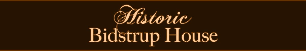 Historic Bidstrup House History